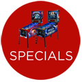 Our latest Specials on Pinball Machines